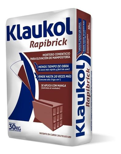 rapibrick mortero cementico para mamposteria (30 kg) klaukol