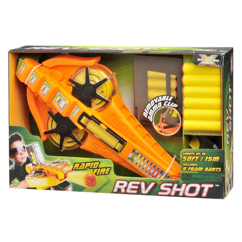 rapid fire shot pistola lanza dardos 15 m - fair play toys