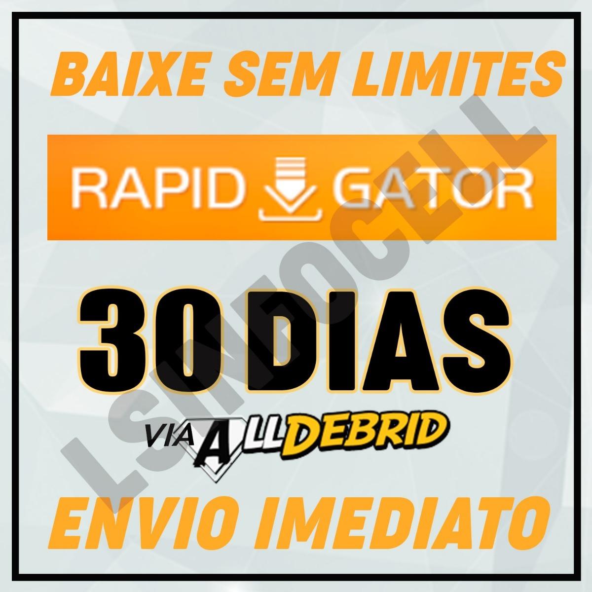 Rapidgator Via Alldebrid + 100 Contas Premium 30 Dias