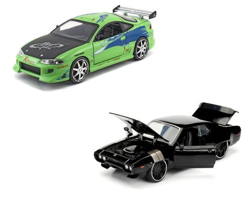rapido y furioso 8 autos a escala 1:24 combo x 2 originales