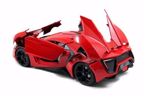 rapido y furioso autos a escala 1:18 lykan hypersport jada