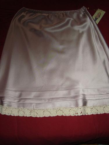 rapsodia falda en satin color visón envio gratis cuotas!