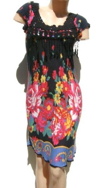 Rapsodia Vestido Tm Algodon Gris Estampado Colores 750 00