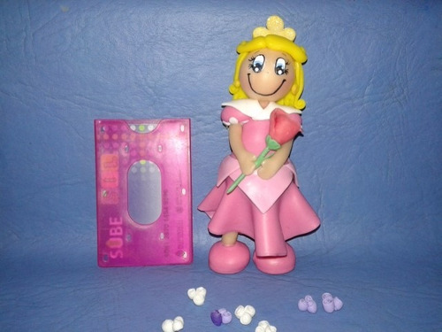 rapunzel princesa de disney adorno torta en porcelana fría