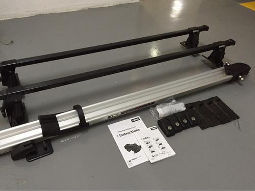 raque thule + suporte para bicicleta thule em alumínio