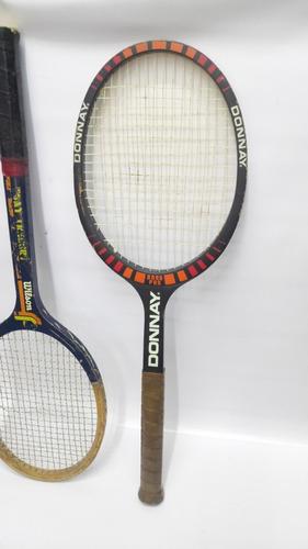 raqueta antigua en madera de colección precio x c/u