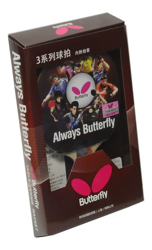 raqueta butterfly 303 penhold pips-out tenis de mesa lapicer