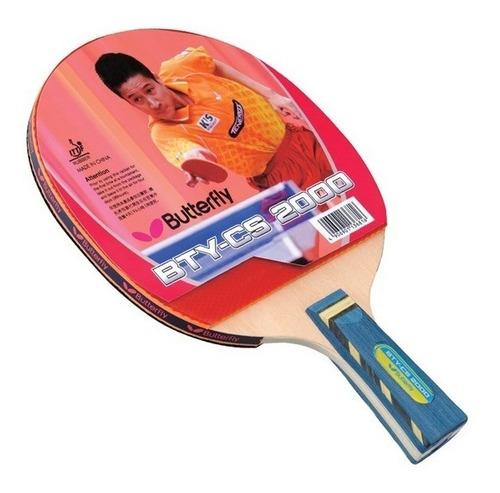 raqueta butterfly cs 2000 penhold de ping pong tenis de mesa