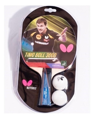 raqueta butterfly - timoboll 3000 + 2 bolas. gratis envío