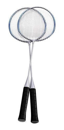raqueta de badminton + funda + plumillas.