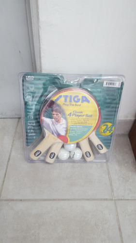 raqueta de ping-pong con pelotas mod t0520 en blister