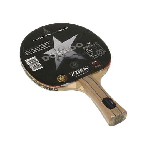 raqueta de ping pong stiga dorado.  l3o