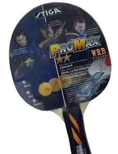 raqueta de ping pong stiga promax 2 estrellas  l3o