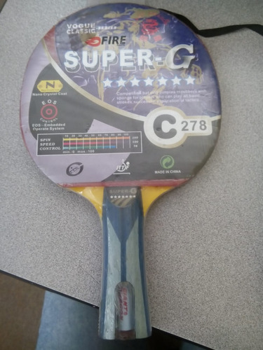 raqueta de ping pong super g 7 estrellas c278