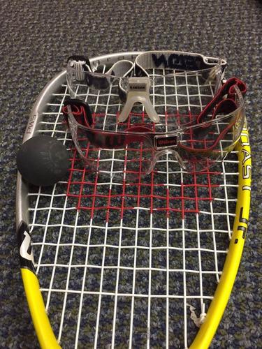 raqueta de squash - grafito wilson - junior - excelente
