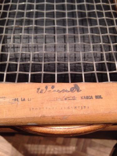 raqueta de tenis antigua marca winner