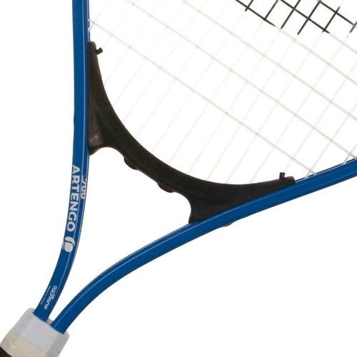 raqueta de tenis infantil 23, azul. comodidad para niño
