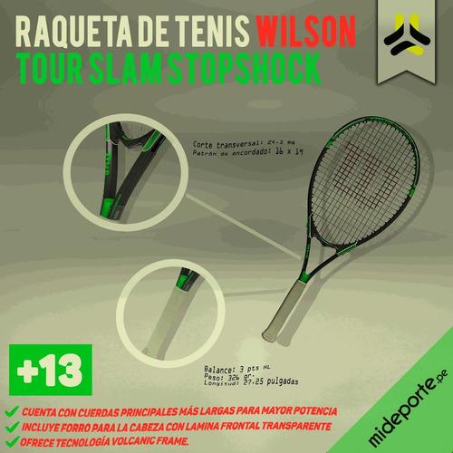 raqueta de tenis wilson tour slam stopshock