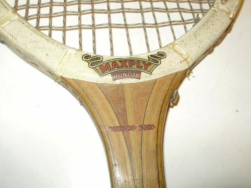 raqueta dunlop maxply england 68 cmts encordado completo
