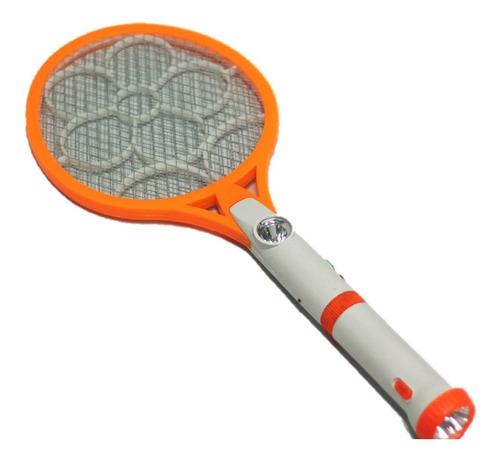 raqueta eléctrica mata insectos moscas linterna rf:7040