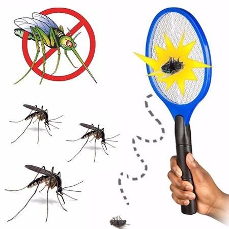 raqueta electrica mata mosquitos moscas insectos zancudos