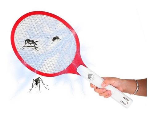 raqueta eléctrica mata zancudos polilla 3en1 linterna mnr