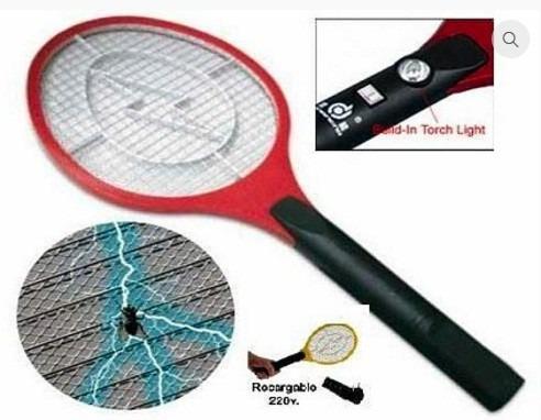 raqueta eléctrica recargable mata insectos mosquitos moscas