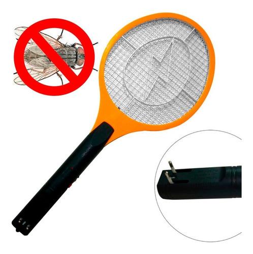 raqueta electrónica recargable mata moscas y mosquitos 5 + 1