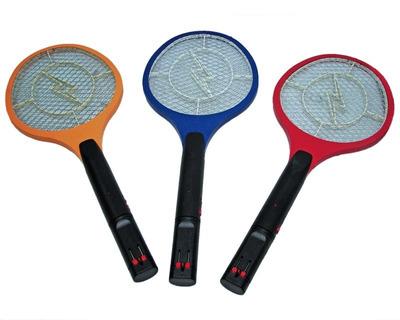 raqueta mata moscas, zancudo c/linterna led recargable.
