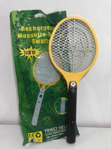 raqueta mata zancudos y moscas electrica pilas aa incluidas