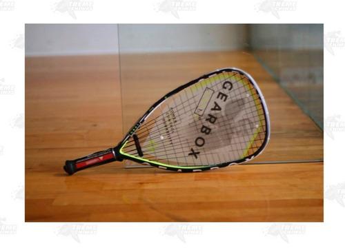 raqueta para racquetball gearbox gbx1 3 15/16 amarilla xtrem