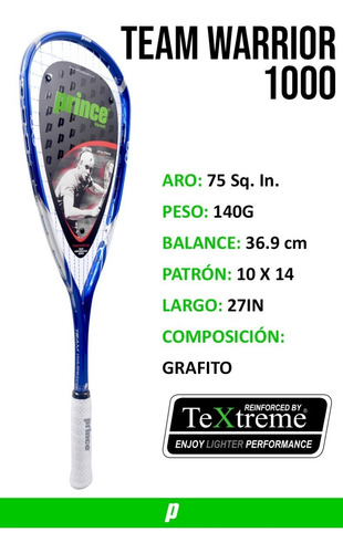 raqueta squash prince team warrior 1000