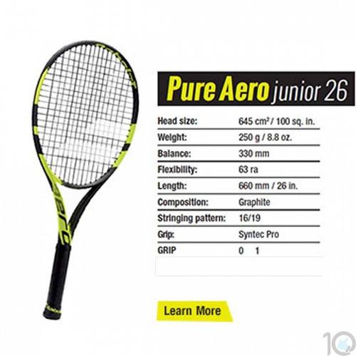 raqueta tenis babolat pure aero 26 junior niño funda y cuerd
