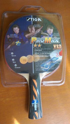 raqueta tenis de mesa (ping pong)  marca stiga. nuevas