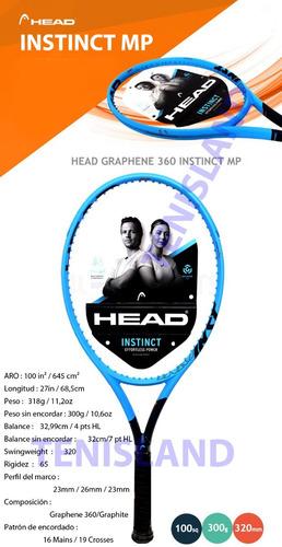 raqueta tenis head graphene 360 instinct mp en loc. no.1 arg