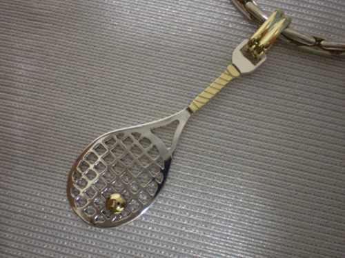 raqueta tenis - plata 950 - oro 18k