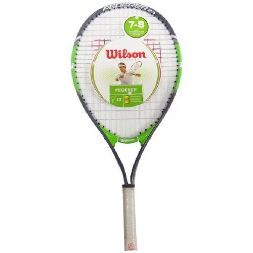 raqueta tennis wilson roger federer 3 5/8 age 7-8 verde
