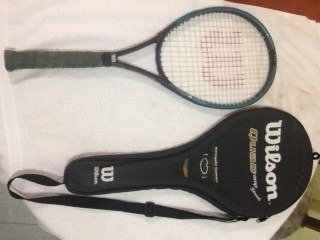 raqueta wilson quad comp stretch, 4 3/8 l-3, original.