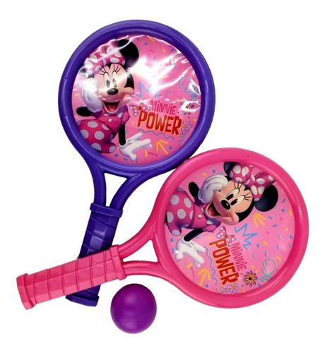 raquetas con pelotas minnie mouse disney original