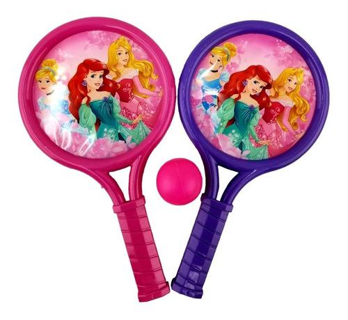 raquetas con pelotas princesas disney original
