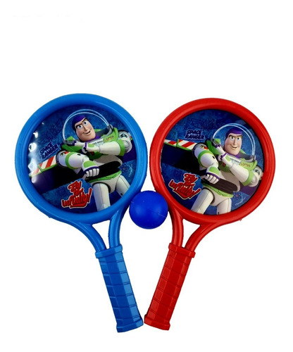 raquetas con pelotas toy story buzz lightyear original