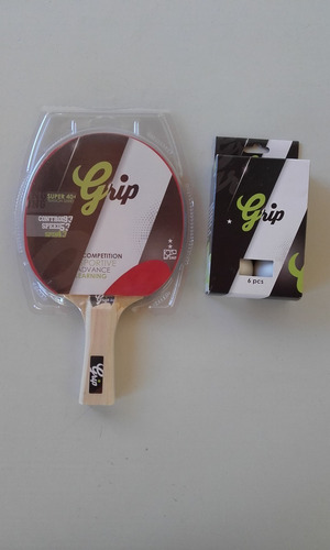 raquetas de ping pong -  marca grip 2 estrellas