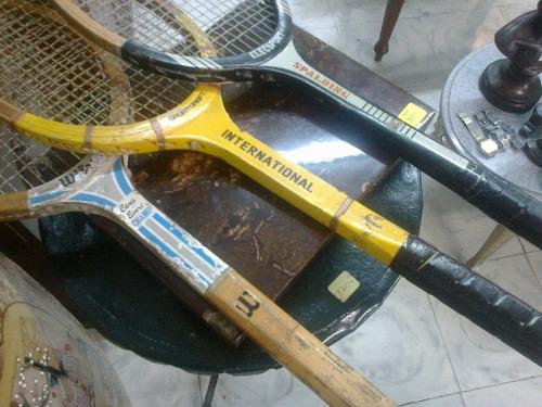 raquetas de tenis antiguas en madera precio x cada una