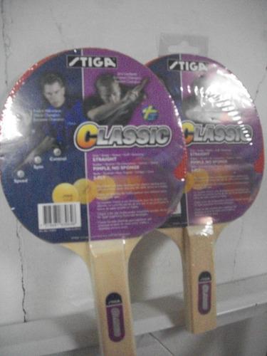 raquetas para tenis de mesa pin pon  marca stiga classic