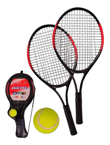 raquetas para tenis niños x 2 + pelota