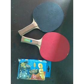 Raquetas Ping Pong Con 5 Pelotas Y Malla Se Aceptan Cambios