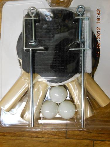 raquetas ping pong red y pelotas stiga classic