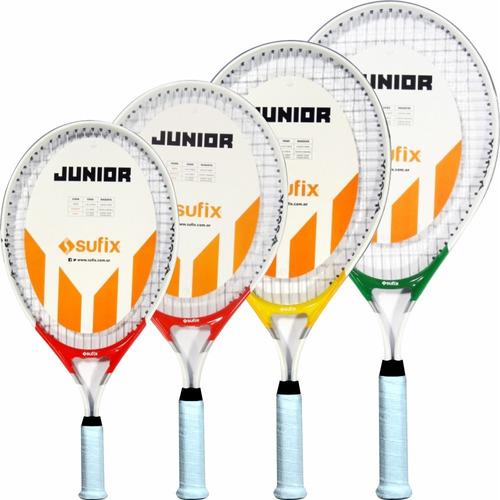 raquetas tenis sufix junior - línea play & stay - con funda