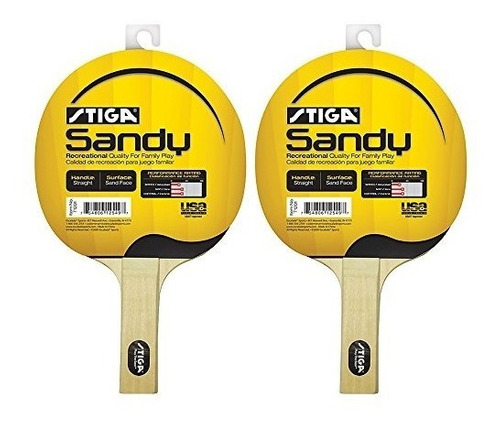 raquetas,juego de 2 stiga sandy premium ping pong paddle..