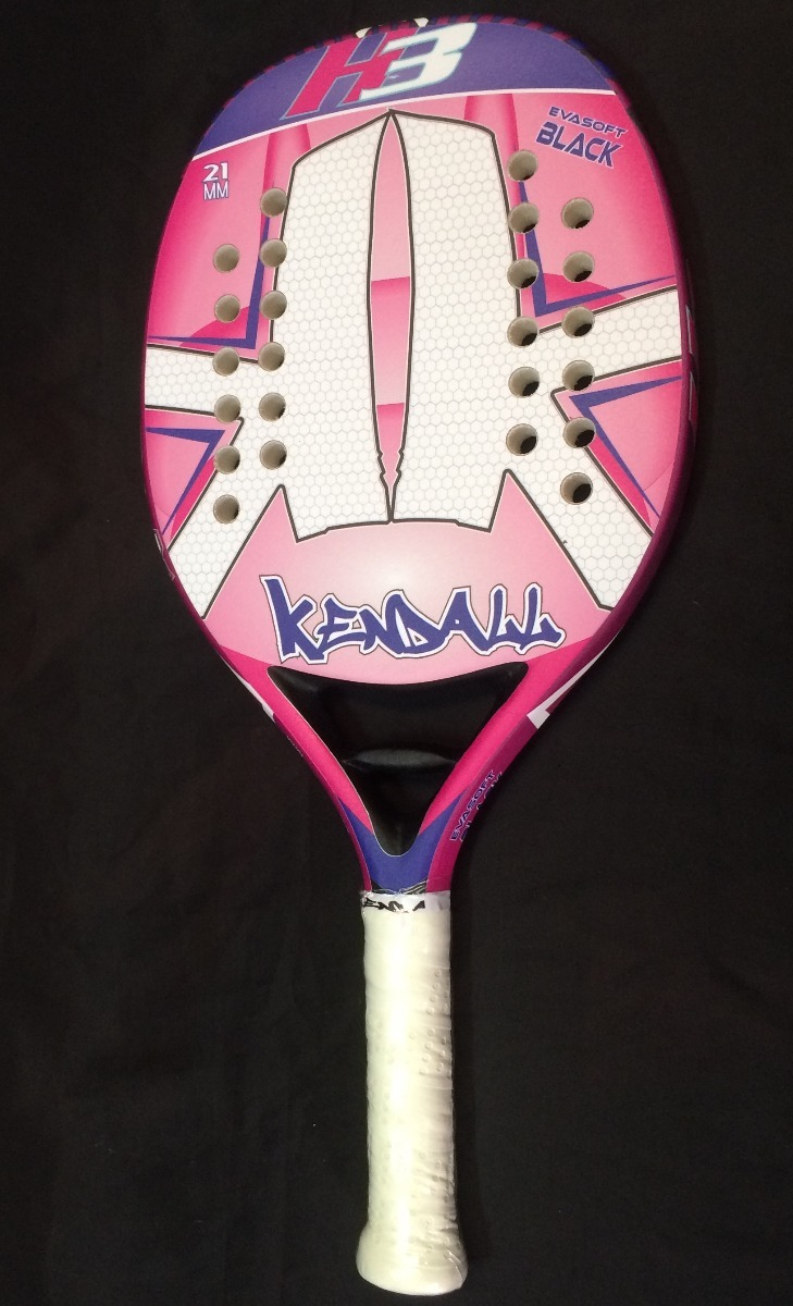 02158517d raquete beach tennis kendall h3 rosa 21mm original. Carregando zoom.